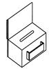 Sammelbox mit Displayträger